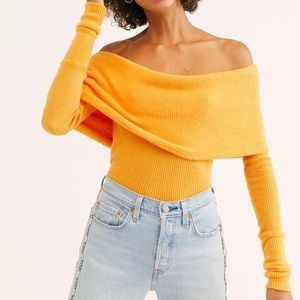 NWT Free People Snowbunny Ribbed Long Sleeve Top